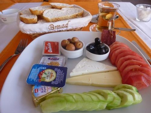 カッパドキア カフェでの朝食