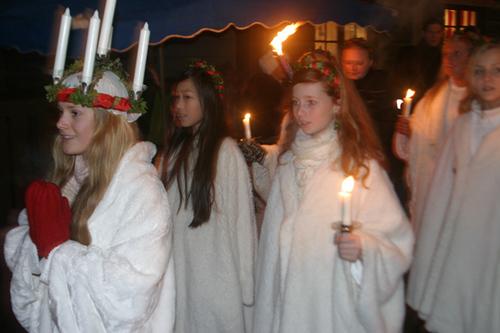 スウェーデンのルチア祭の様子