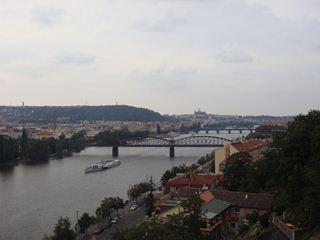 ヴィシェフラドから見たプラハ