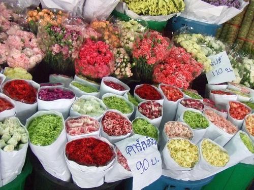 バンコク 花市場