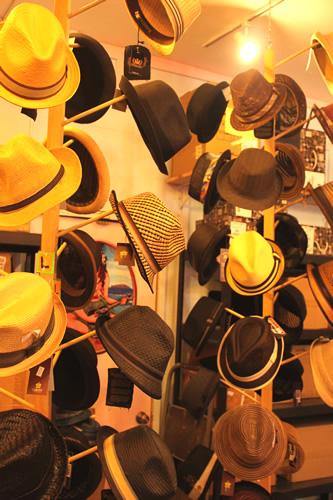 帽子がとっても豊富