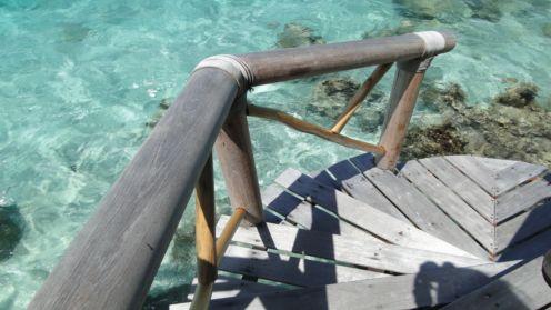 海に降りる階段の先には…