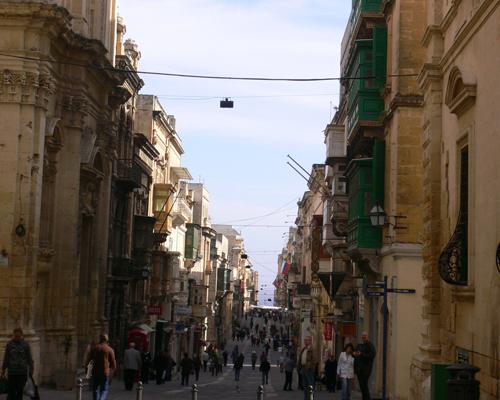 世界遺産バレッタの街並み