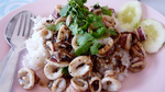 イカにんにく胡椒炒めご飯