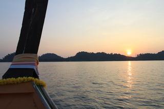 到着はあいにく夕方であった夕陽綺麗