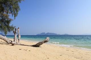 島の南の方のビーチ。海の色が濃い
