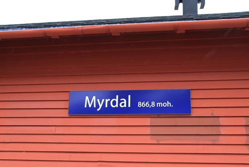 ミュールダール駅看板