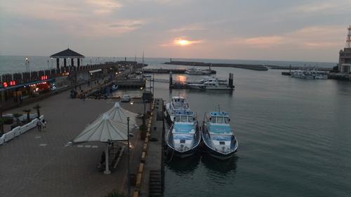 漁人碼頭から見る夕日