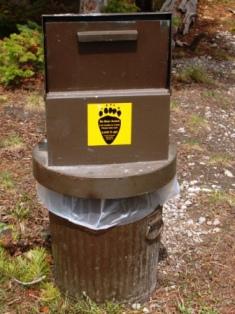 野生動物対策ゴミ箱