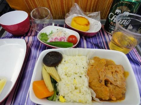 バンコク タイ航空機内食