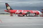 エアーアジアの赤い機体