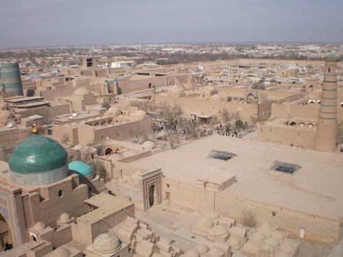 イスラムホジャ・ミナレットからの景色