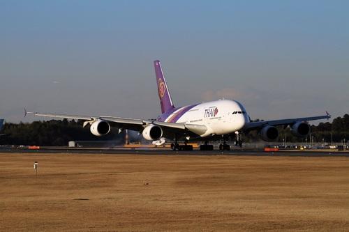 A380成田テイクオフ