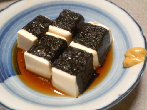豆腐の海苔巻き