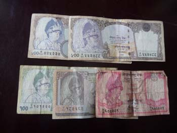 ネパールの紙幣5