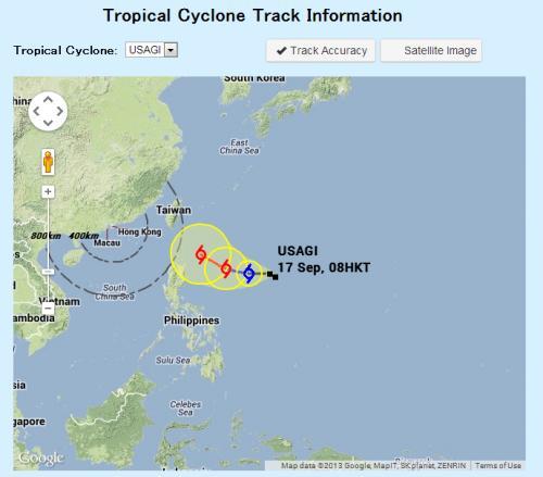 台風19号USAGI