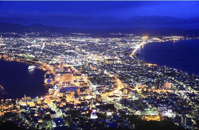 坂と歴史の街・函館♪人気の函館山からの夜景もお忘れなく!
